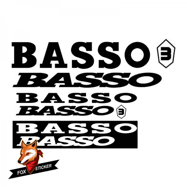 Bicycle Frame Decal Stickers   Basso-01
